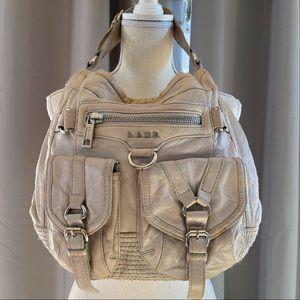 L.A.M.B. Leather Satchel Shoulder Purse Sand Taupe